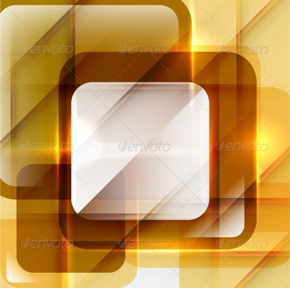 Orange Modern Geometric Abstract Background
