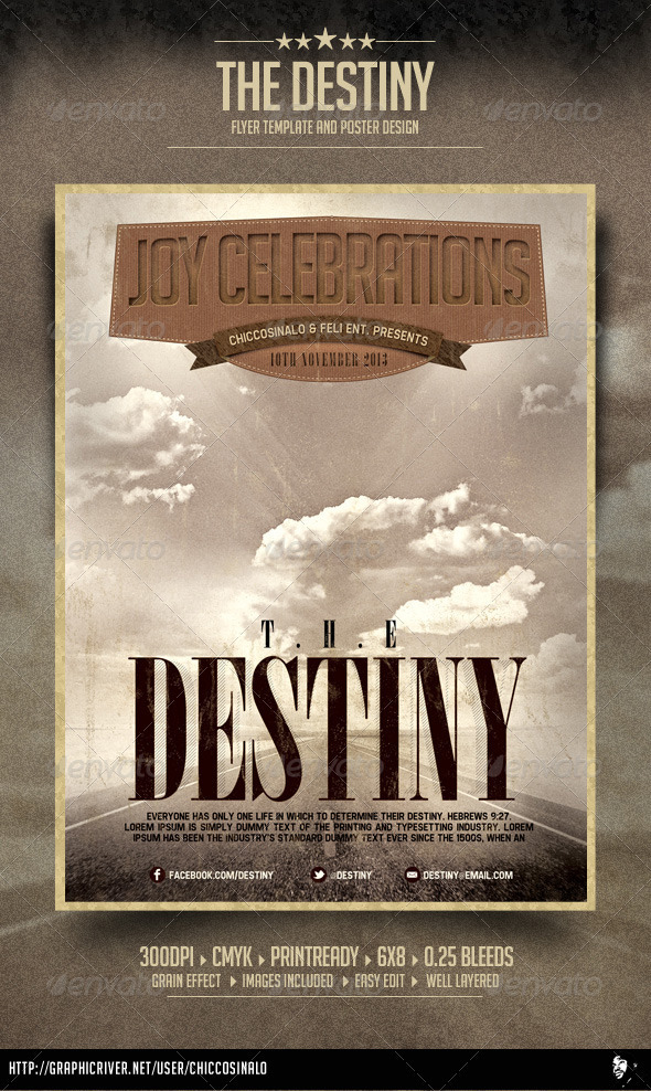 GraphicRiver The Destiny Flyer Template 4015617