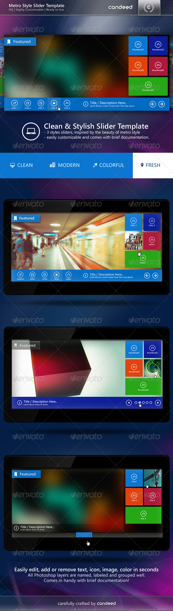 GraphicRiver Metro Style Slider Template 4015785