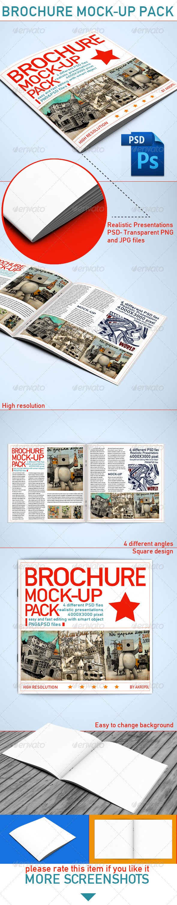 GraphicRiver Brochure Mock Up 4016143
