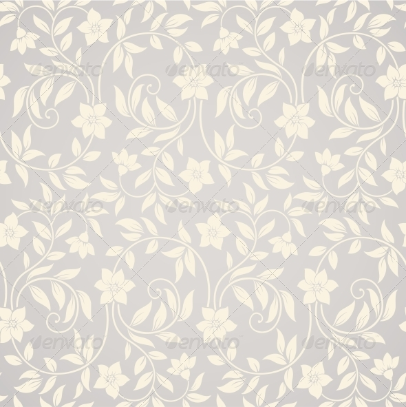 GraphicRiver Seamless Swirl Floral Background 4016156