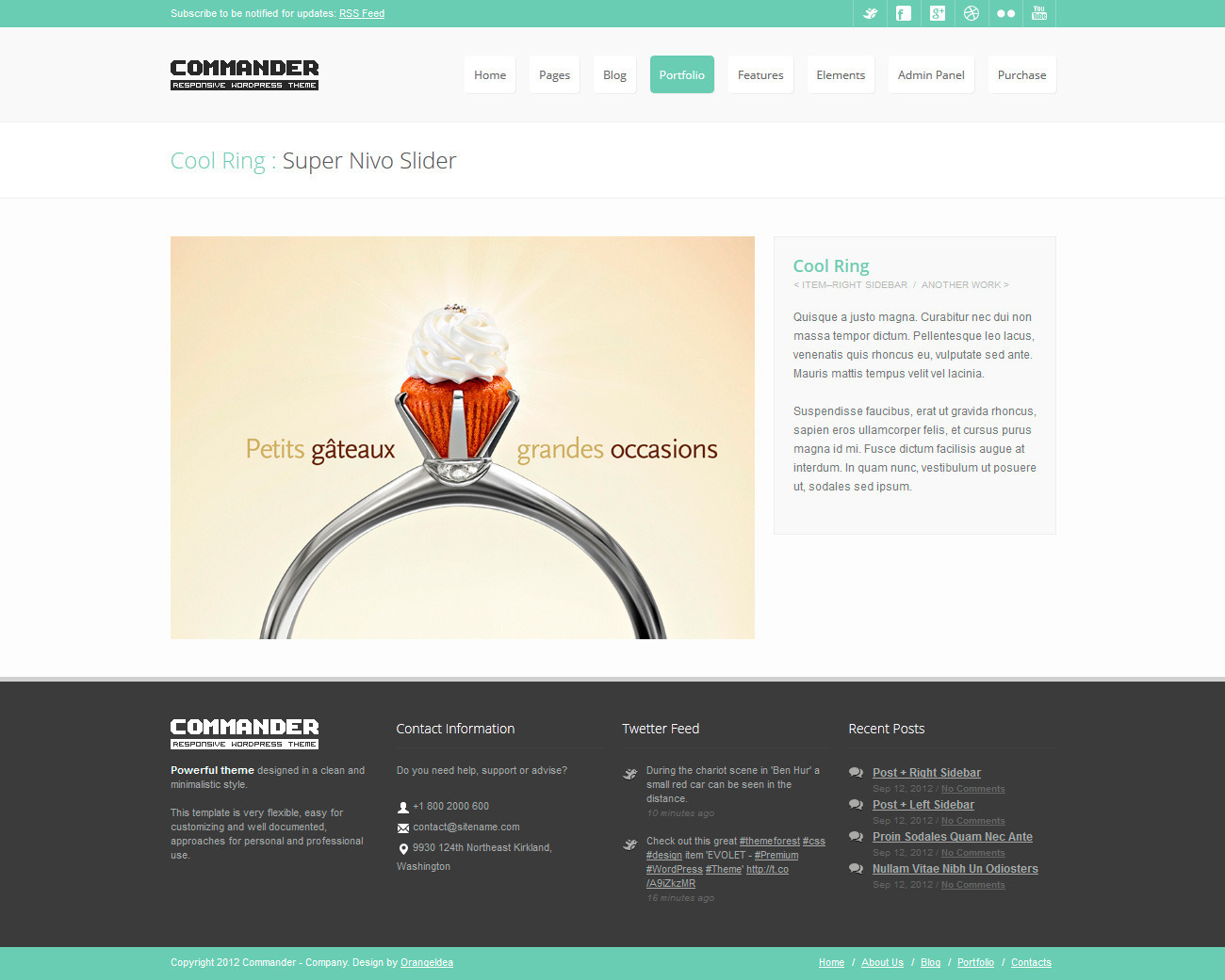 COMMANDER - Responsive HTML Template