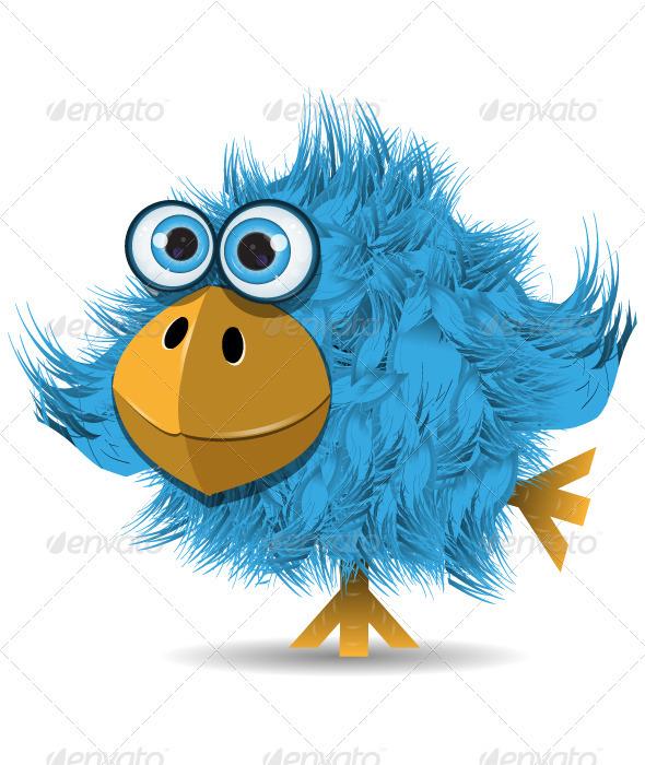 GraphicRiver Very Funny Blue Bird 4016820