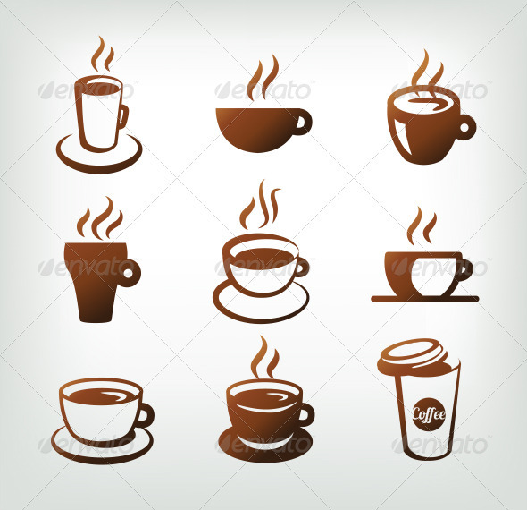 GraphicRiver Vector Set Of Coffee Icons 4017245