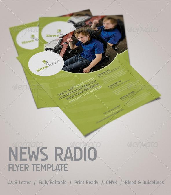 GraphicRiver News Radio Flyer 4017360