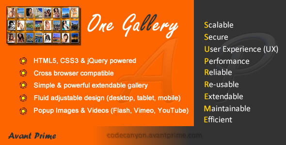 CodeCanyon One Gallery 4017443