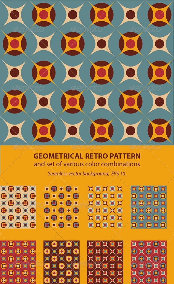 GraphicRiver Seamless Geometrical Retro Pattern 4017729
