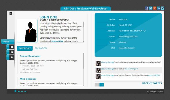 ThemeForest Innovative Idea Personal vCard HTML5 Theme 4017805