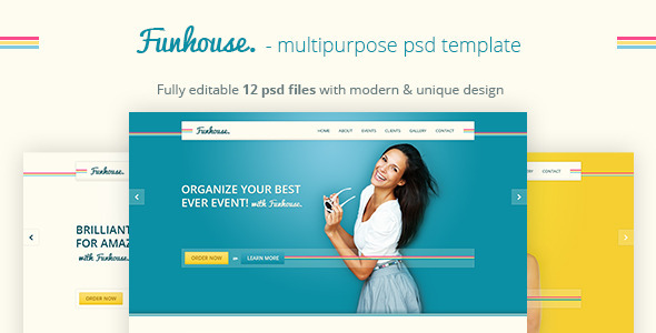 Funhouse - Creative Agency PSD Template - Events Entertainment