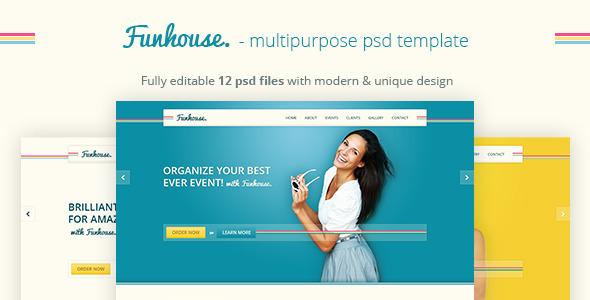 ThemeForest Funhouse Creative Agency PSD Template 4017806