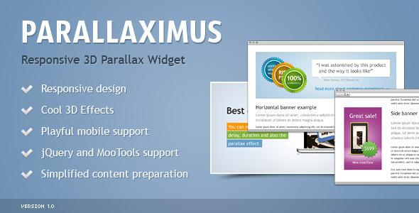 CodeCanyon Parallaximus Responsive 3D Parallax Widget 4017858