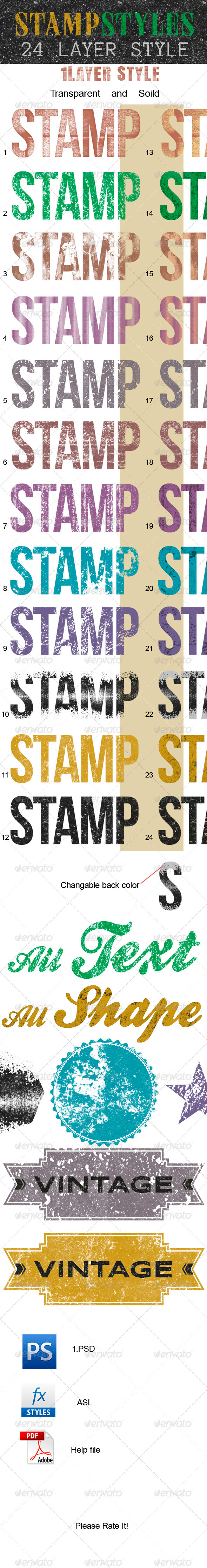Stamp Layer Style - Text Effects Actions