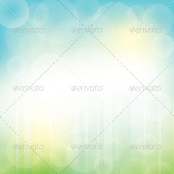 GraphicRiver Abstract Green Blue Background with Bokeh 4018299