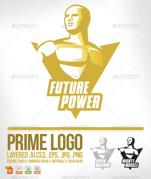 GraphicRiver Prime Logo Template 3876542