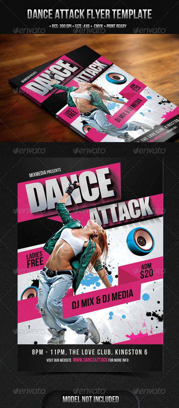 GraphicRiver Dance Attack Flyer 3910539