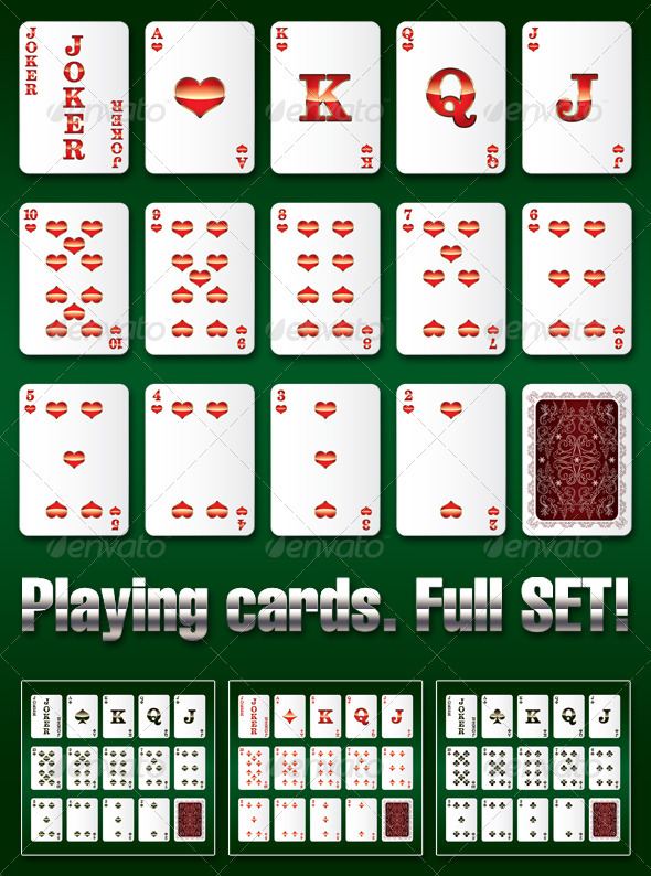 GraphicRiver Playing Cards Complete Set 4019027
