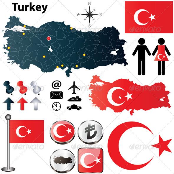 GraphicRiver Turkey Map 4019128