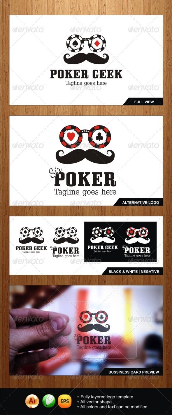 GraphicRiver Poker Geek Sir Poker Logos 3874504