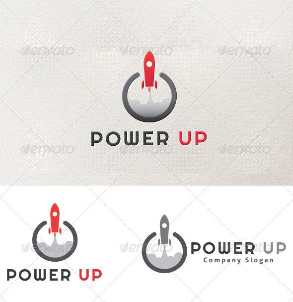 GraphicRiver Power Up Logo 3868811