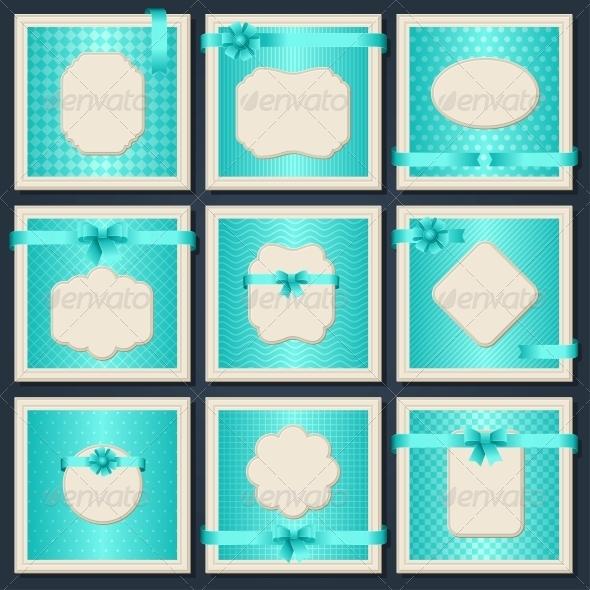 GraphicRiver Vintage patterned cards 4020054