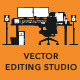Cartoon Styled Vector Editing Studio - GraphicRiver Item for Sale