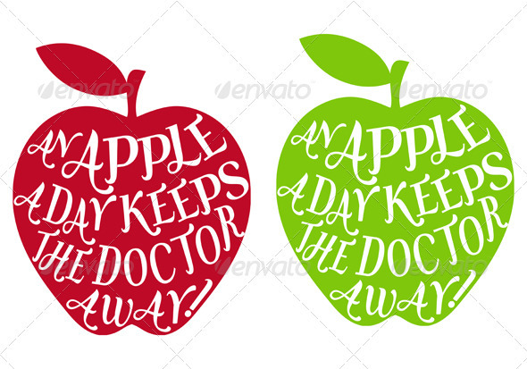 An Apple A Day Keeps The Doctor Away - Food Objects