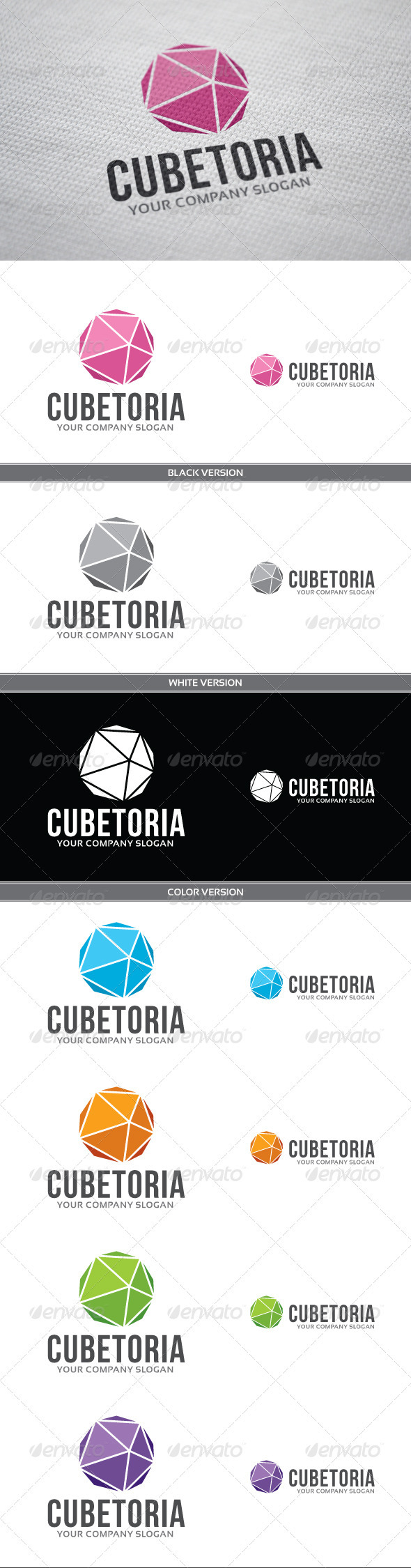 Cubetoria Logo - Vector Abstract