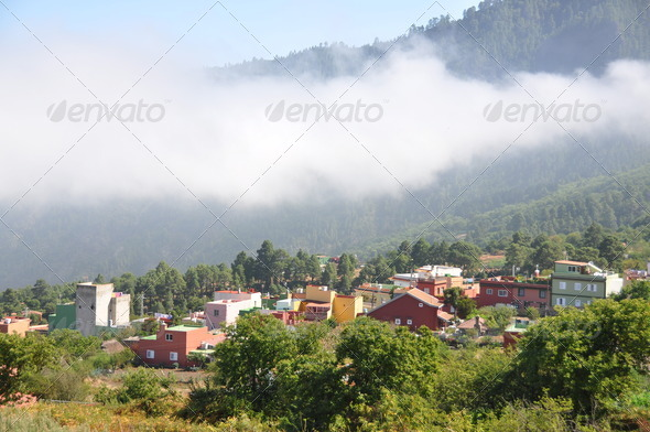 PhotoDune Mountain village Tenerife island Canaries 4021135