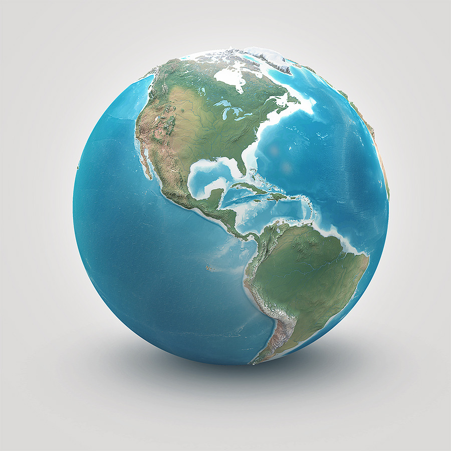 Planet Earth - Realistic 3D World Globe