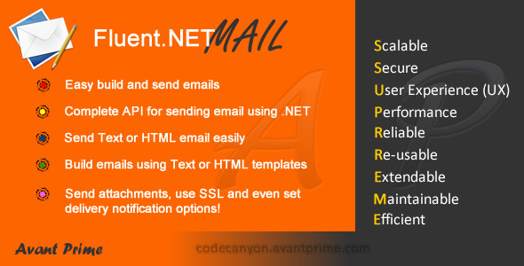 CodeCanyon Fluent.NET Mail 4021407