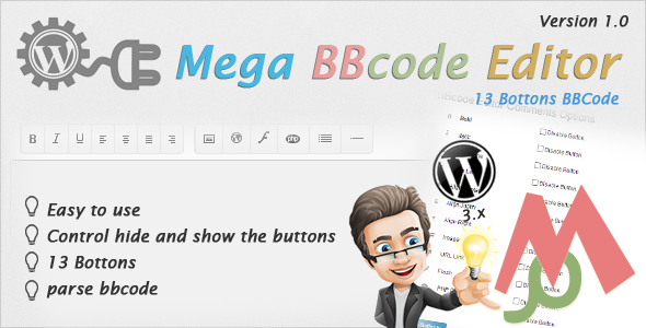 CodeCanyon Mega BBCODE Editor Comment WP plugins 4021415