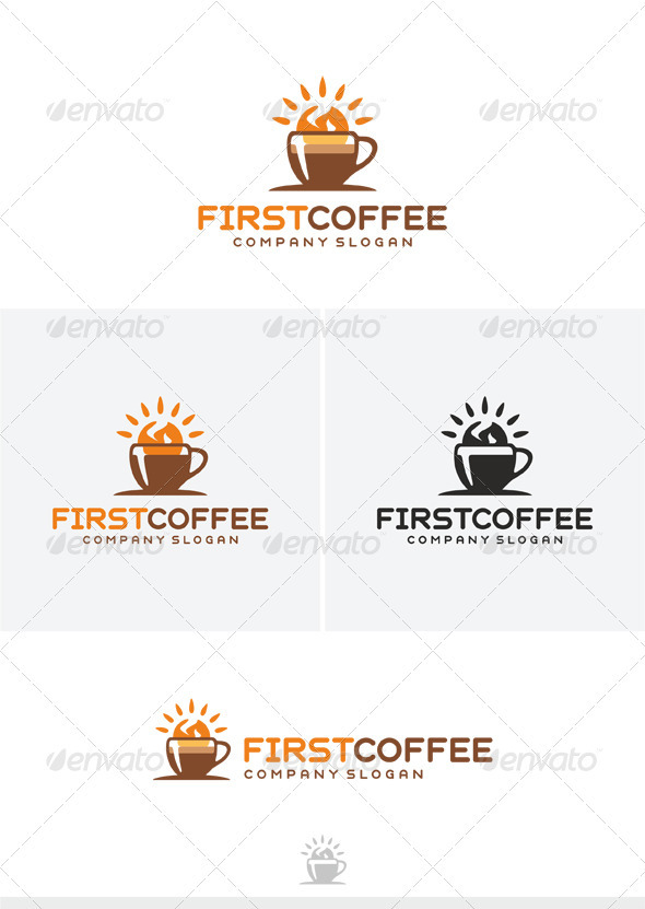 GraphicRiver First Coffee Logo 4021431
