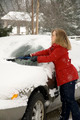 Woman Removing Snow From Car 10 - PhotoDune Item for Sale