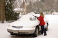 Woman Removing Snow From Car 4 - PhotoDune Item for Sale