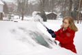Woman Removing Snow From Car 8 - PhotoDune Item for Sale