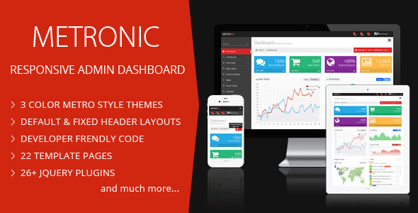 ThemeForest Metronic Responsive Admin Dashboard Template 4021469