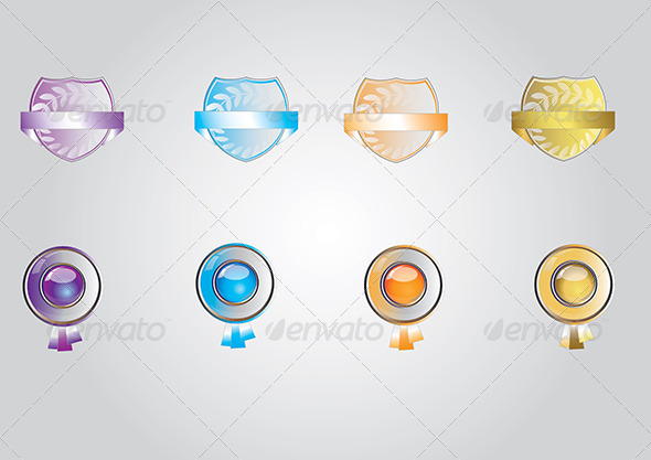 GraphicRiver award icon set 4021589