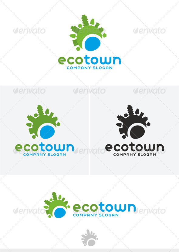 Eco Town Logo - Nature Logo Templates
