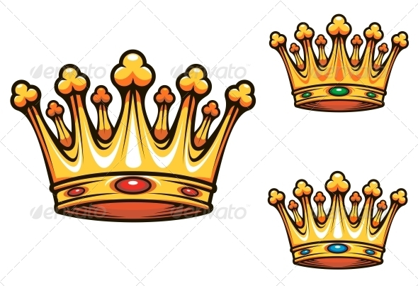 Queen And King Crown Symbol King Crown Sten...