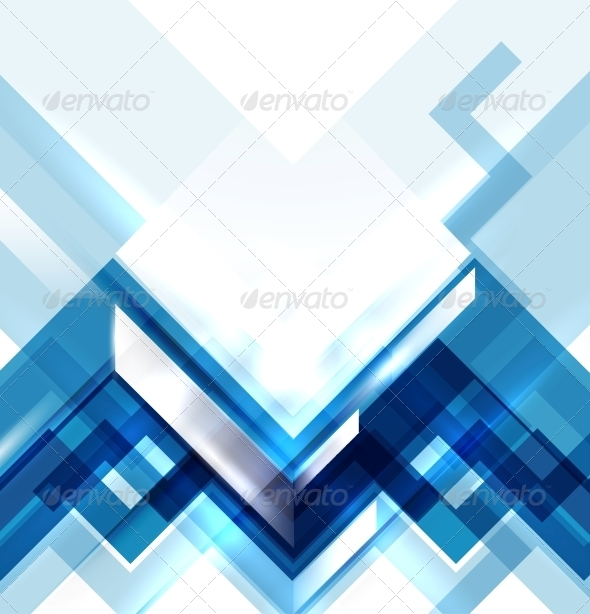 GraphicRiver Blue modern geometric abstract background 4021920