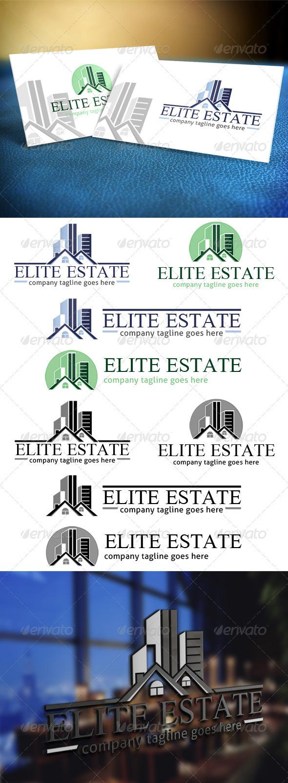 GraphicRiver Elite Estate Realty Logo 3783772