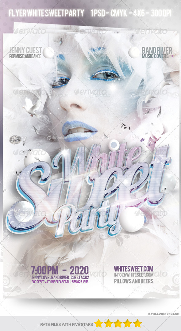 GraphicRiver Flyer Party White Sweet 3834045