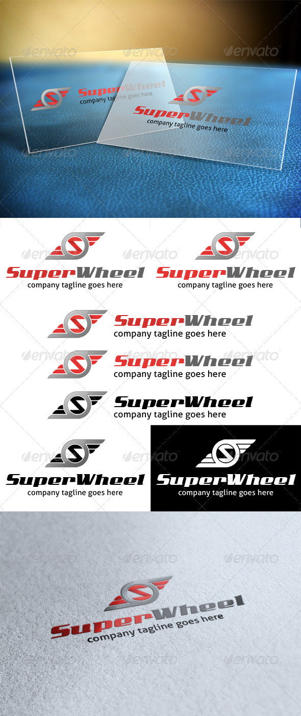 GraphicRiver Super Wheel Letter S Logo 3883507