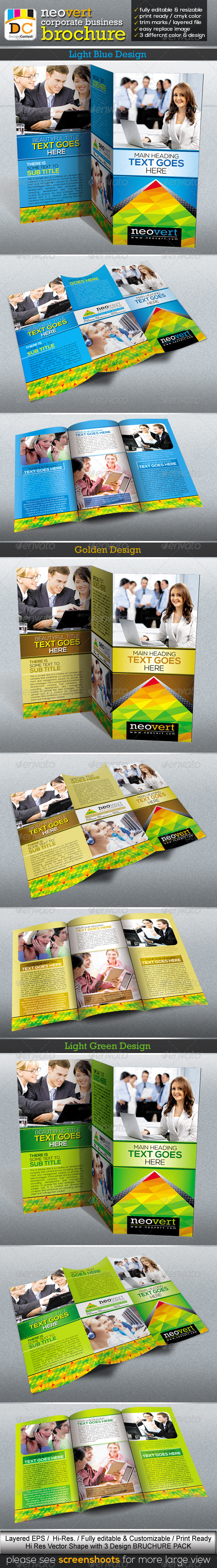 GraphicRiver NeoVert Tri-fold Corporate Business Brochure 4022277