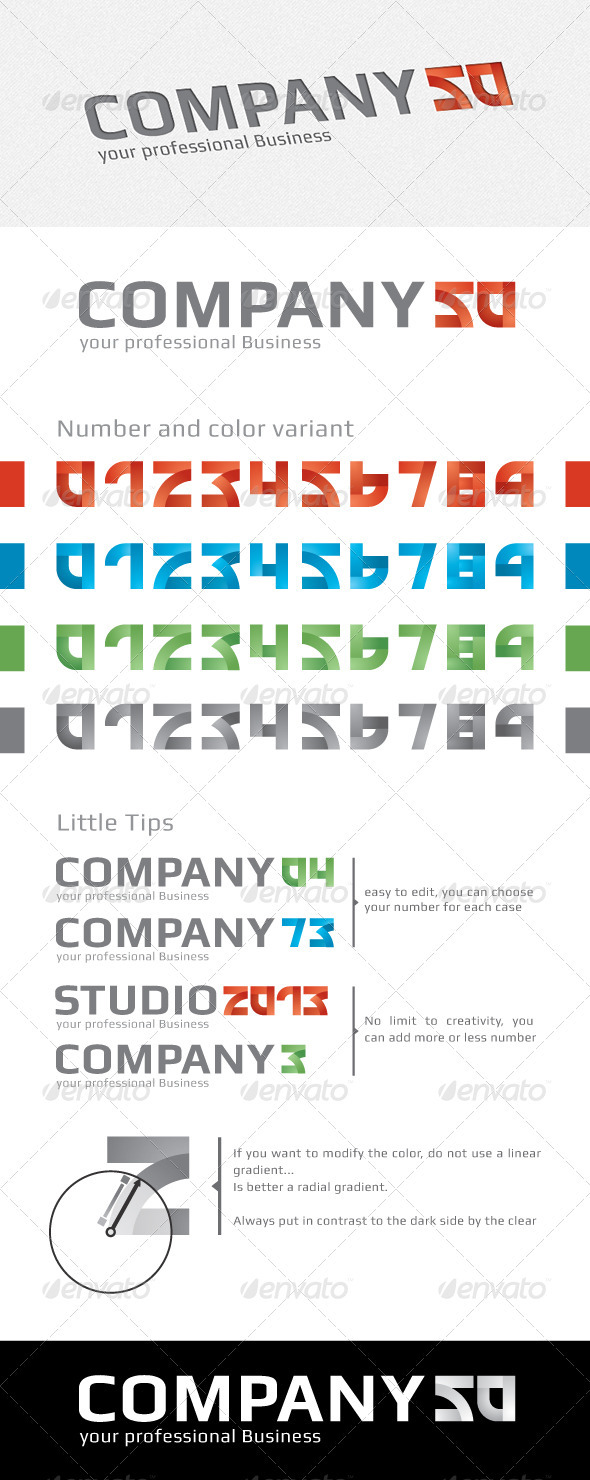 GraphicRiver Logo Number Creator 4022721
