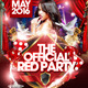 The Official Red Party Flyer Template - GraphicRiver Item for Sale
