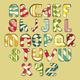 Multicolored Striped Alphabet - GraphicRiver Item for Sale