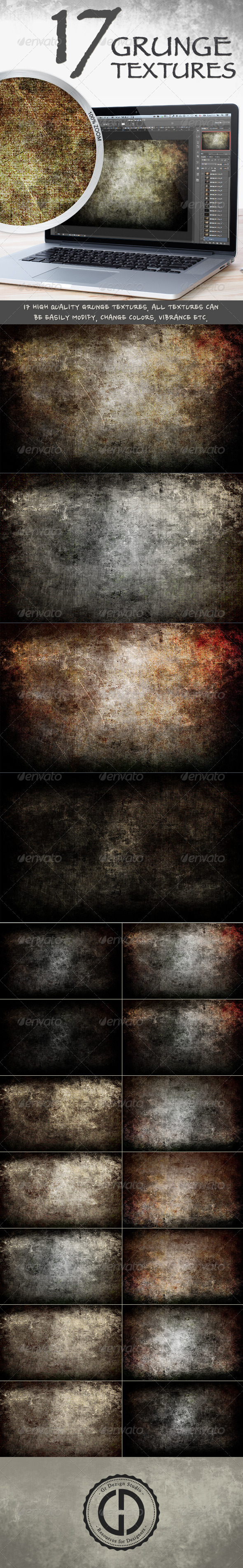 GraphicRiver Grunge Textures 4022887