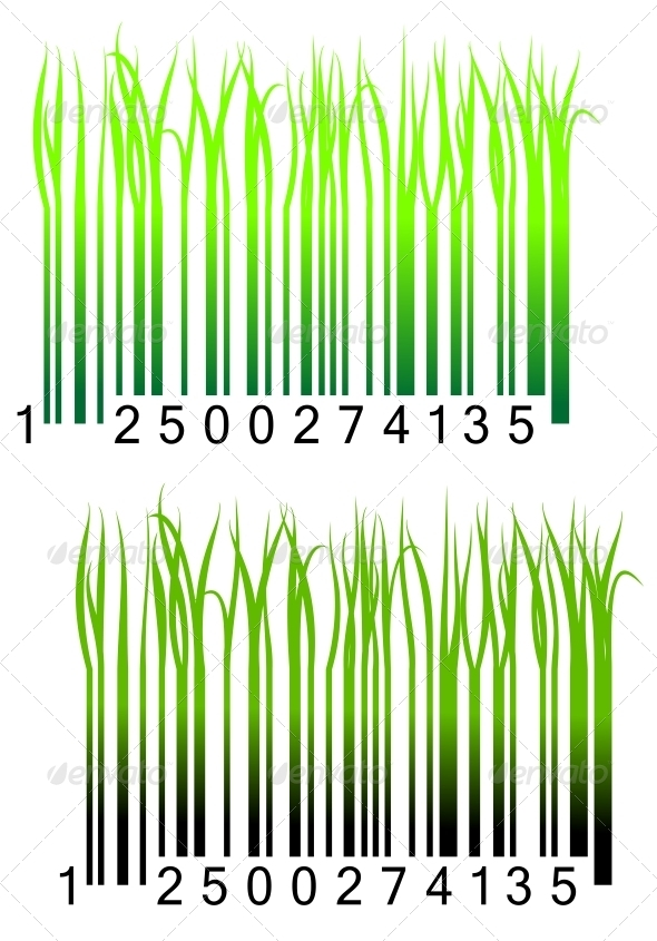 GraphicRiver Bar code with fresh green grass 4023024
