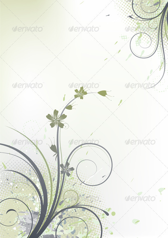 GraphicRiver floral background 4023155